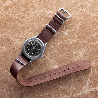 Dark Brown Kangaroo NATO Watch Strap alternate image.