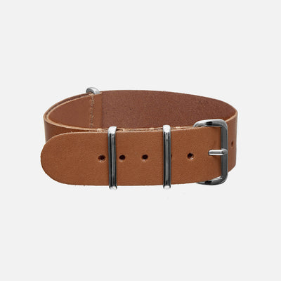 Tan Kangaroo Single-Piece Watch Strap