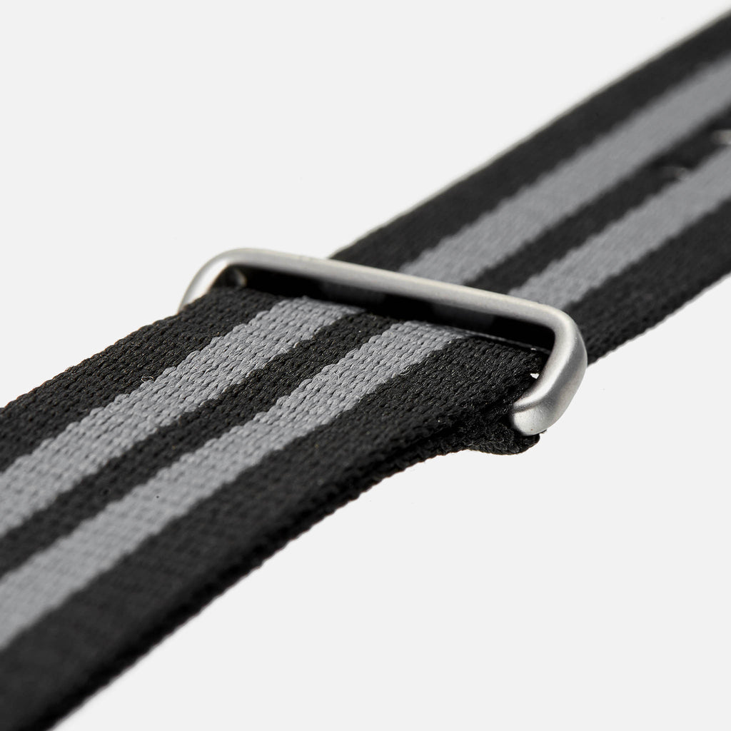 Black And Grey NATO Watch Strap