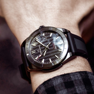 NORQAIN Adventure Sport Automatic Black DLC On Rubber Strap alternate image.