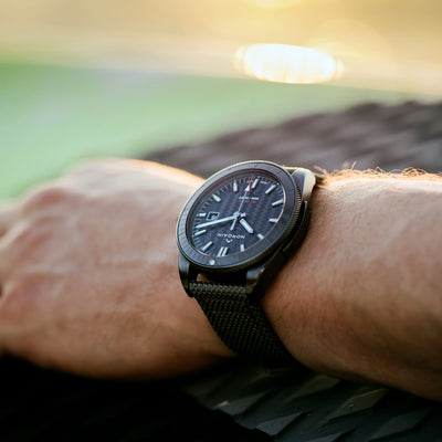 NORQAIN Adventure Sport Automatic Black DLC On Khaki Nordura Fabric Strap alternate image.