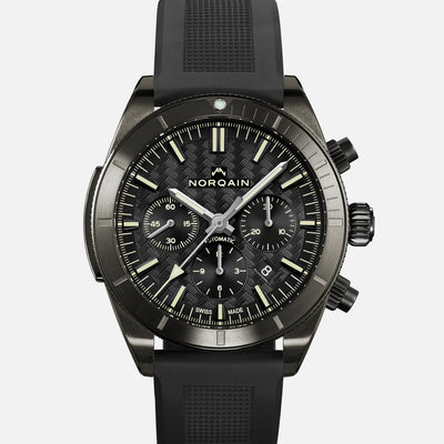 NORQAIN Adventure Sport Chronograph Black DLC On Rubber Strap alternate image.
