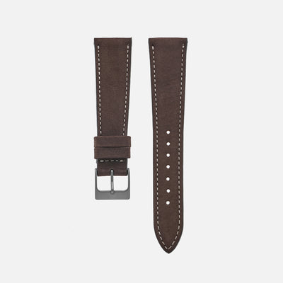 The Bedford Watch Strap In Dark Brown
