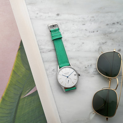 The Bedford Watch Strap In Mint Green alternate image.