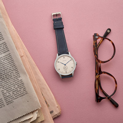 The Bedford Watch Strap In Navy alternate image.