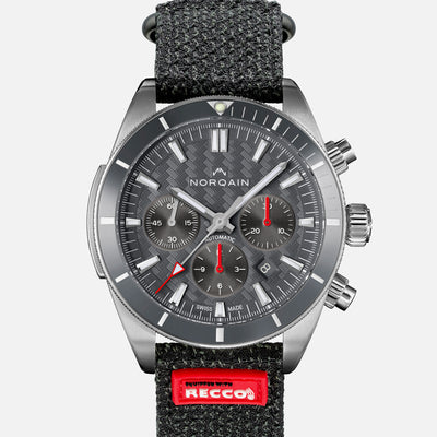 NORQAIN Adventure Sport Chronograph Grey Dial On Kevlar Strap With RECCO® Chip