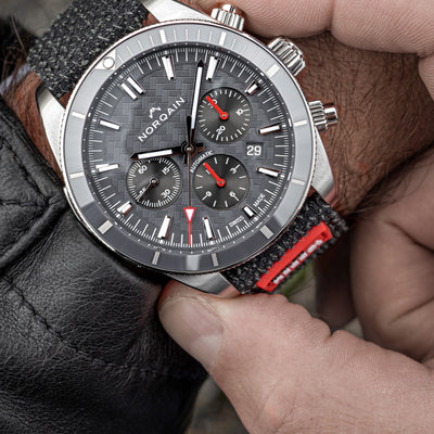 NORQAIN Adventure Sport Chronograph Grey Dial On Kevlar Strap With RECCO® Chip alternate image.