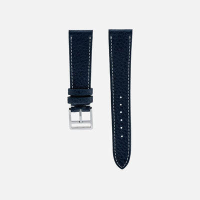 Marbled Navy Blue Calfskin Watch Strap
