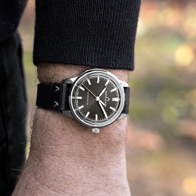 NORQAIN Freedom 60 39mm Stainless Steel Case With Anthracite Dial On Leather Strap alternate image.