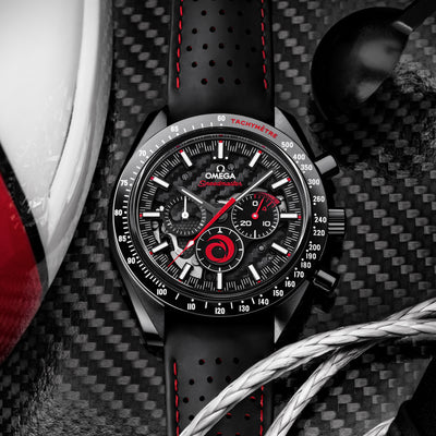 OMEGA Speedmaster Moonwatch Chronograph 44.25mm 'Dark Side Of The Moon' ALINGHI alternate image.