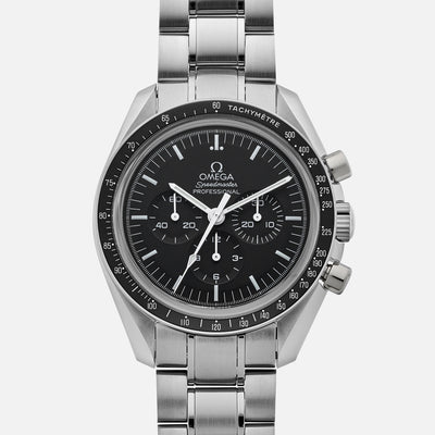Omega Speedmaster Moonwatch Professional Chronograph 42mm Hesalite Crystal On Bracelet