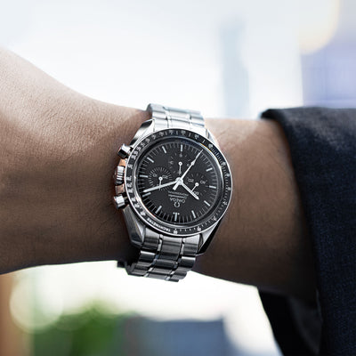 Omega Speedmaster Moonwatch Professional Chronograph 42mm Hesalite Crystal On Bracelet alternate image.