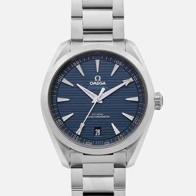 Omega Seamaster Aqua Terra 150m Co-Axial Master Chronometer 41mm Blue Dial On Bracelet