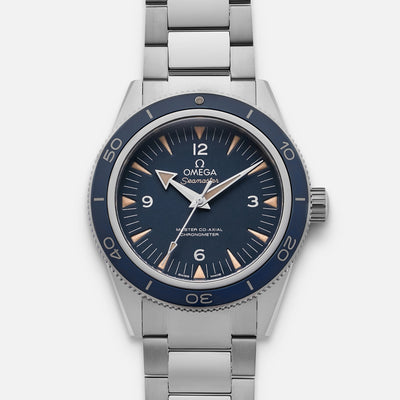 OMEGA Seamaster 300 Master Co-Axial 41mm Titanium Blue Dial On Bracelet