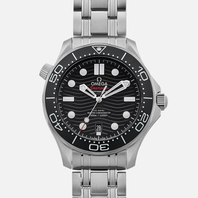 OMEGA Seamaster Diver 300M Co-Axial Master Chronometer 42mm Black Dial On Bracelet