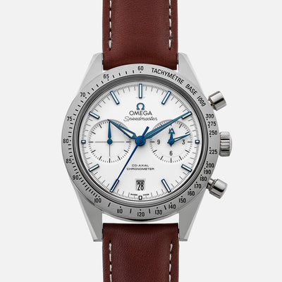 OMEGA Speedmaster '57 Co-Axial Chronograph 41.5mm Titanium White Dial On Strap