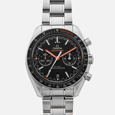 OMEGA Speedmaster Racing Co-Axial Master Chronometer Chronograph 44.25mm Black Dial With Orange Accents On Bracelet