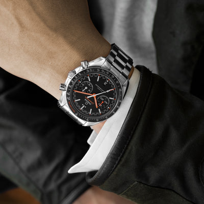 OMEGA Speedmaster Racing Co-Axial Master Chronometer Chronograph 44.25mm Black Dial With Orange Accents On Bracelet alternate image.