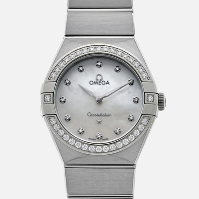 OMEGA Constellation Quartz 28mm Stainless Steel With Diamonds