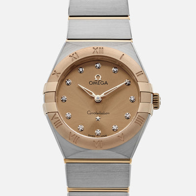 OMEGA Constellation Quartz 28mm Two-Tone With Diamonds