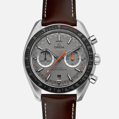OMEGA Speedmaster Racing Co-Axial Master Chronometer Chronograph 44.25mm Grey Dial On Strap
