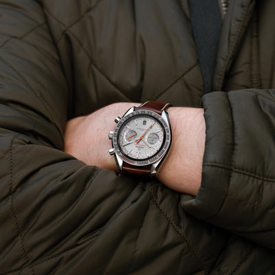 OMEGA Speedmaster Racing Co-Axial Master Chronometer Chronograph 44.25mm Grey Dial On Strap alternate image.