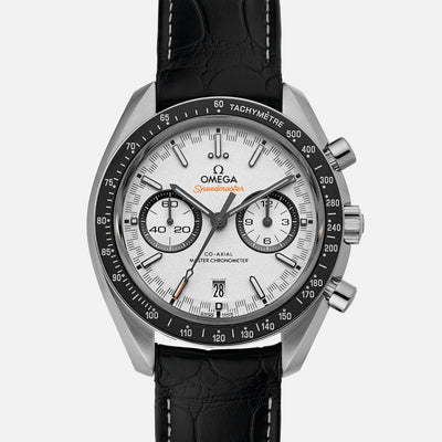 OMEGA Speedmaster Racing Co-Axial Master Chronometer Chronograph 44.25mm White Dial On Strap