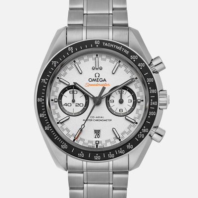 OMEGA Speedmaster Racing Co-Axial Master Chronometer Chronograph 44.25mm White Dial On Bracelet