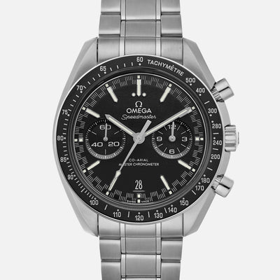 OMEGA Speedmaster Racing Co-Axial Master Chronometer Chronograph 44.25mm Black Dial With White Accents On Bracelet