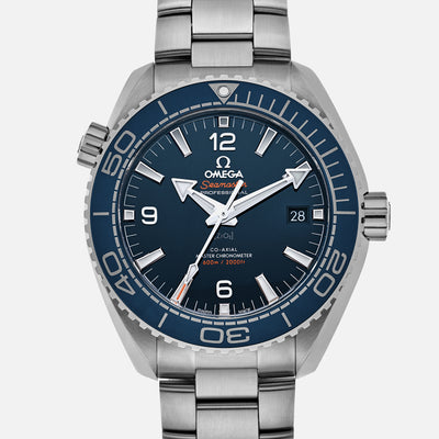 OMEGA Seamaster Planet Ocean 600M Co-Axial Master Chronometer 43.5mm Blue Dial On Bracelet