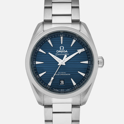 OMEGA Seamaster Aqua Terra 150m Co-Axial Master Chronometer 38mm Blue Dial On Bracelet