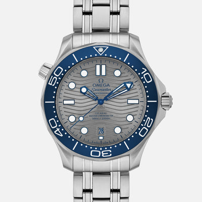 OMEGA Seamaster Diver 300M Co-Axial Master Chronometer 42mm Grey Dial On Bracelet