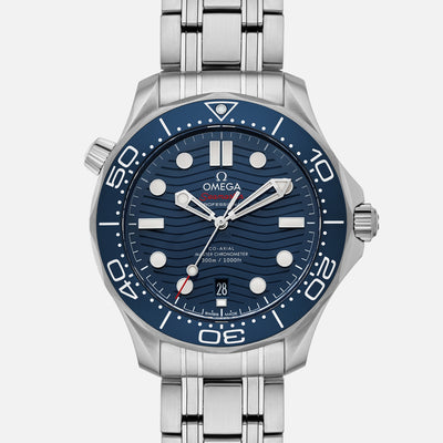 OMEGA Seamaster Diver 300M Co-Axial Master Chronometer 42mm Blue Dial On Bracelet