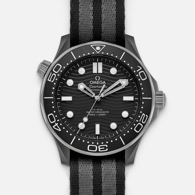 OMEGA Seamaster Diver 300M Co-Axial Master Chronometer 43.5mm Black Ceramic On NATO Strap
