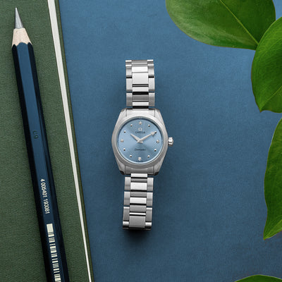 OMEGA Seamaster Aqua Terra 150M Quartz 28mm Stainless Steel With Blue Dial And Diamonds alternate image.