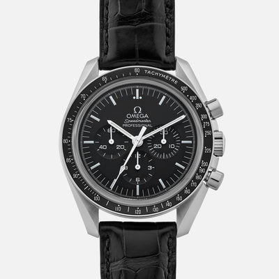 Omega Speedmaster Moonwatch Professional Chronograph 42mm Hesalite Crystal On Strap