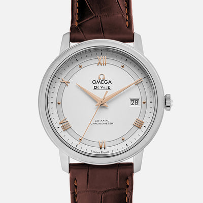 OMEGA De Ville Prestige Co-Axial 39.5mm White Dial On Strap