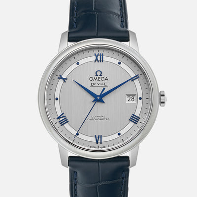 OMEGA De Ville Prestige Co-Axial 39.5mm Grey Dial On Strap