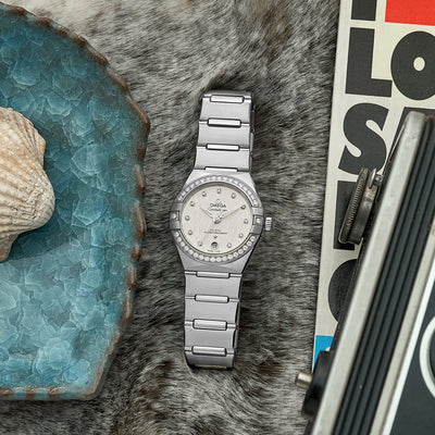 OMEGA Constellation Co-Axial Master Chronometer 29mm Stainless Steel With Diamond-Set Bezel alternate image.