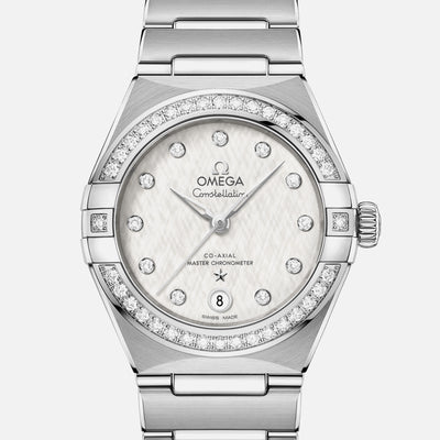 OMEGA Constellation Co-Axial Master Chronometer 29mm Stainless Steel With Diamond-Set Bezel