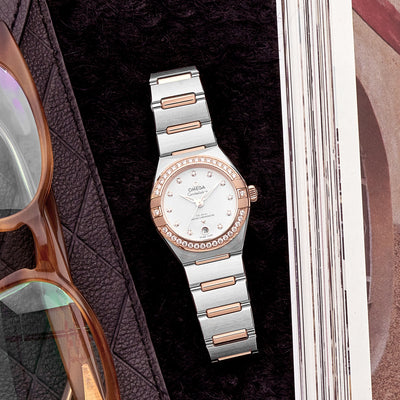 OMEGA Constellation Co-Axial Master Chronometer 29mm Sedna Gold Two-Tone With Diamond-Set Bezel alternate image.