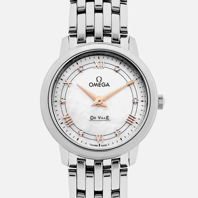 OMEGA De Ville Prestige Quartz 27mm Mother-Of-Pearl Dial