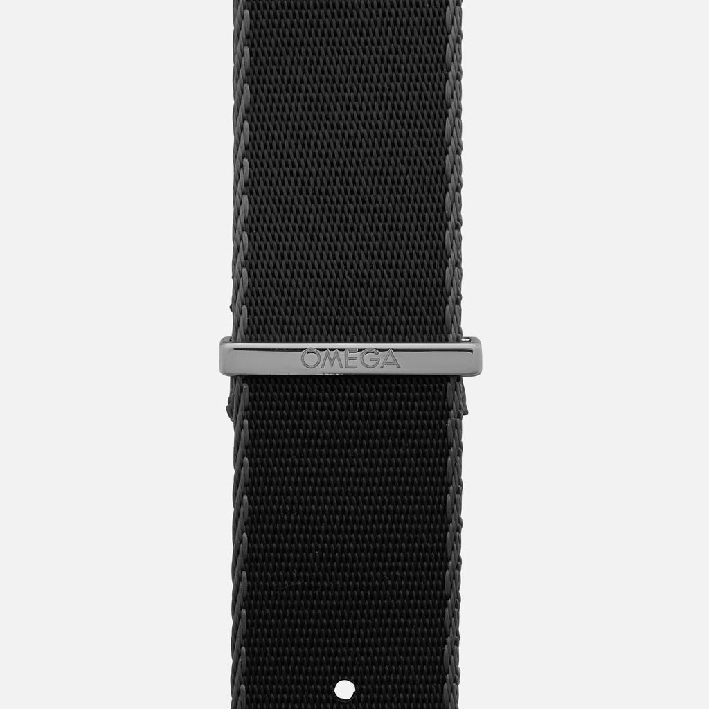 OMEGA NATO Strap In Black With Grey Border