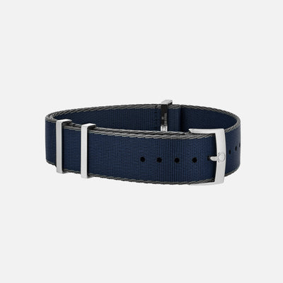 OMEGA NATO Strap In Blue With Grey Border