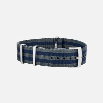 OMEGA NATO Strap In Five-Stripe Blue And Grey