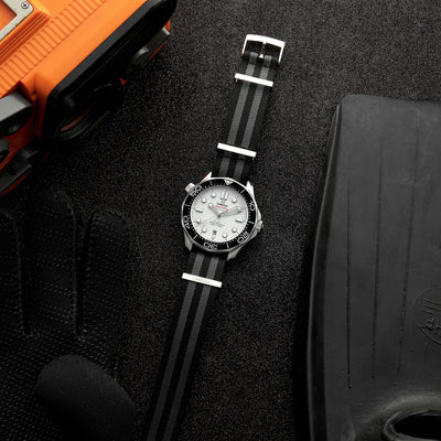 OMEGA NATO Strap In Five-Stripe Black And Grey alternate image.