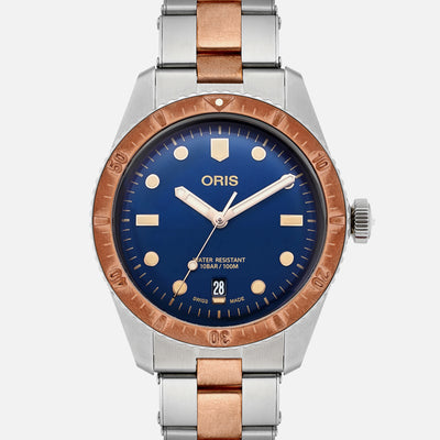 Oris Divers Sixty-Five 'Bico' 40mm Bronze Bezel Blue Dial On Bracelet