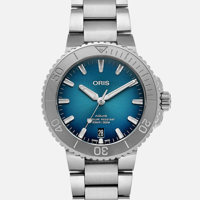 Oris Aquis Date 39.5mm Ocean Blue Dial On Bracelet