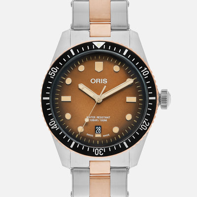 Oris Divers Sixty-Five 'Sunset Brown' 40mm In Bronze And Stainless Steel On Bracelet