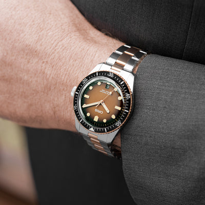 Oris Divers Sixty-Five 'Sunset Brown' 40mm In Bronze And Stainless Steel On Bracelet alternate image.